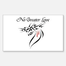 No Greater Love Rectangle Decal