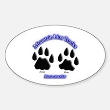 Mountain Lion Track Pair Oval Decal