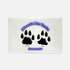 Mountain Lion Track Pair Rectangle Magnet