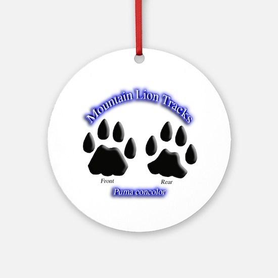 Mountain Lion Track Pair Ornament (Round)