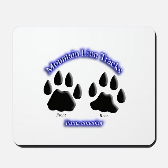Mountain Lion Track Pair Mousepad