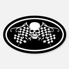 Checkered Oval Decal