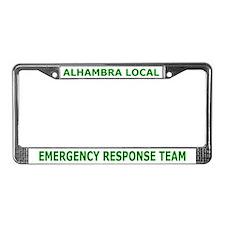 Alhambra ALERT License Plate Frame