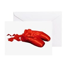 Red Ballet Shoes Greeting Card