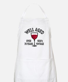 Over 70th Birthday BBQ Apron
