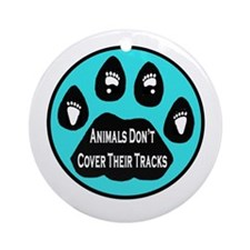 Covered Tracks Ornament (Round)