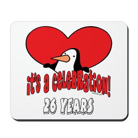 26th Celebration Mousepad
