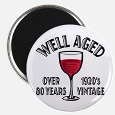 Over 80th Birthday Magnet