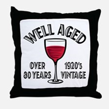Over 80th Birthday Throw Pillow