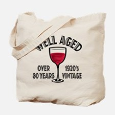 Over 80th Birthday Tote Bag