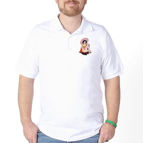 Sombrero Girl Golf Shirt