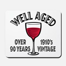 Over 90th Birthday Mousepad