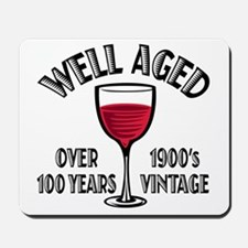 Over 100th Birthday Mousepad