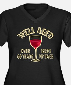 Over 100th Birthday Women's Plus Size V-Neck Dark