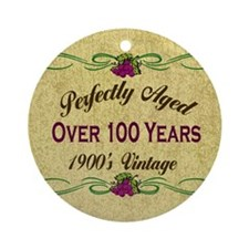 Over 100 Years Ornament (Round)