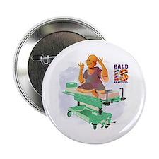 "Childhood Cancer/BaldISBeautiful 2.25"" Button"