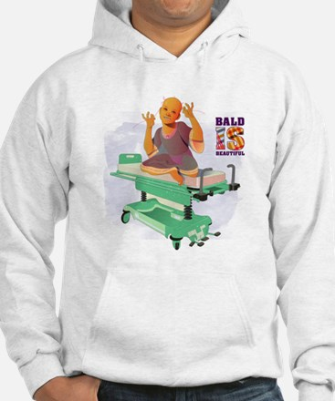 Childhood Cancer/BaldISBeautiful Hoodie