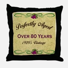 Over 80 Years Throw Pillow
