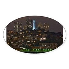 Coit Tower San Francisco Oval Decal