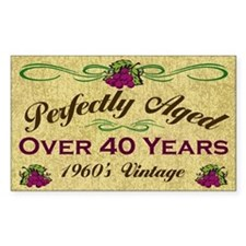 Over 40 Years Rectangle Decal
