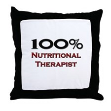 100 Percent Nutritional Therapist Throw Pillow