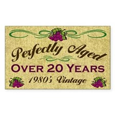 Over 20 Years Rectangle Decal