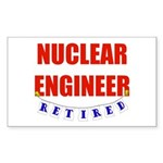 Retired Nuclear Engineer Rectangle Sticker