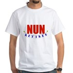 Retired Nun White T-Shirt