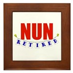 Retired Nun Framed Tile