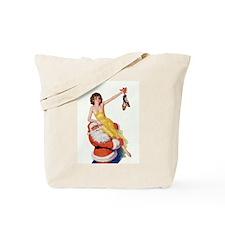 Santa Claus Girl Tote Bag