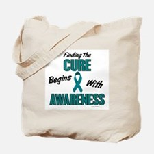 Begins With Awareness 1 (TEAL) Tote Bag