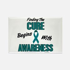 Begins With Awareness 1 (TEAL) Rectangle Magnet