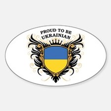 Proud to be Ukrainian Oval Decal