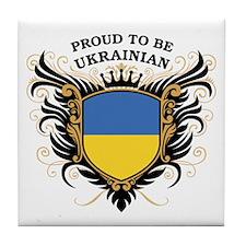 Proud to be Ukrainian Tile Coaster