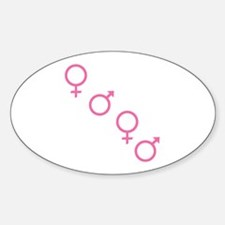 Pink Foursome Oval Decal