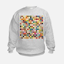 Random Color Blocks Sweatshirt