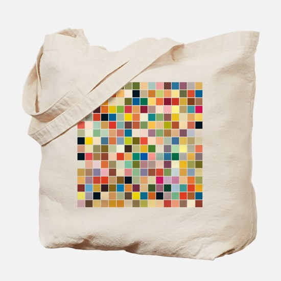 Random Color Blocks Tote Bag