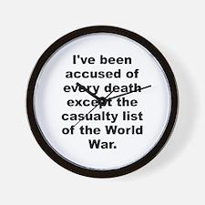 Capone quote Wall Clock