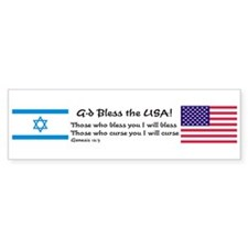 G-d Bless the USA Bumper Bumper Sticker