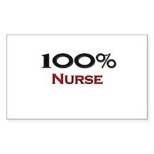 100 Percent Nurse Rectangle Decal