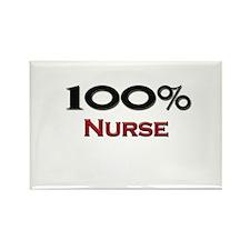100 Percent Nurse Rectangle Magnet
