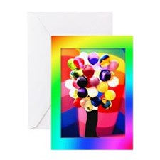 Balloons Girl (Fill in Blanks) Birthday Card