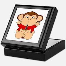 Four Year Old Monkey Keepsake Box