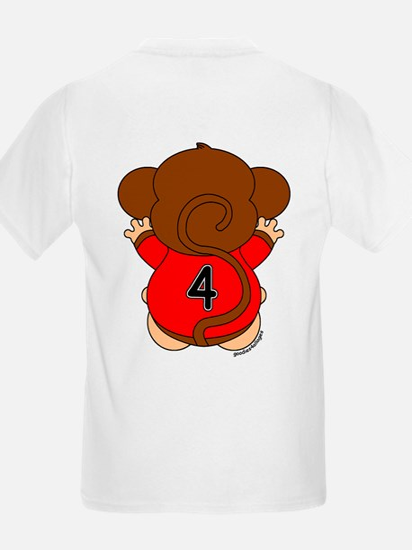 Four Year Old Monkey T-Shirt
