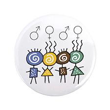 """Colorful Foursome 3.5"""" Button"""