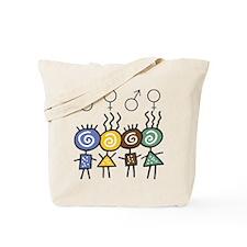 Colorful Foursome Tote Bag