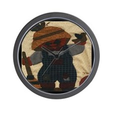Scarecrow Quilt Wall Clock