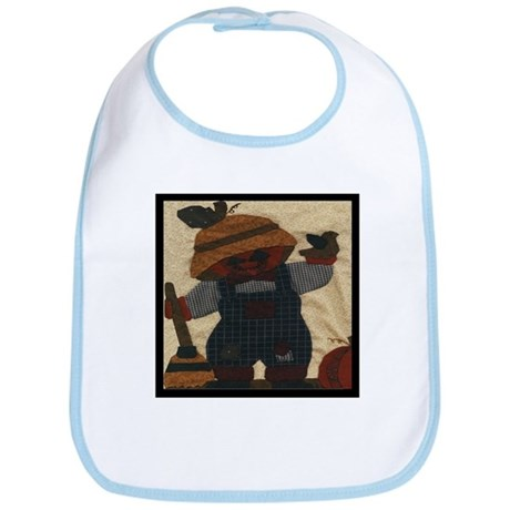 Scarecrow Quilt Bib