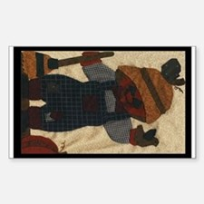 Scarecrow Quilt Rectangle Decal