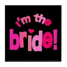 Shades of Pink Bride Tile Coaster